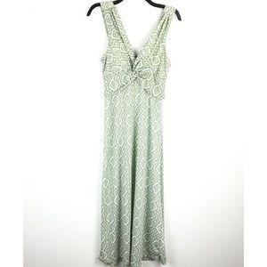 Jon & Anna Green Print Maxi Dress Summer NWT L